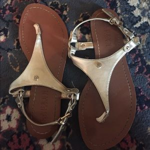 Gold and brown Ralph Lauren sandals size 6.5